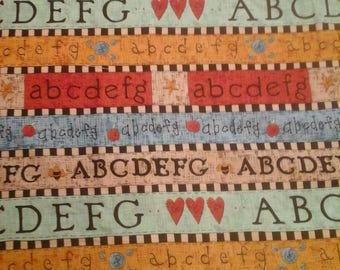 2 Yards Alphabet Fabric KP Kids Cotton