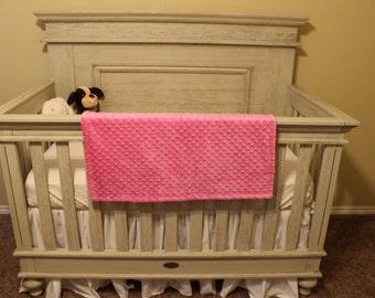 Minky Baby Blanket - Pink