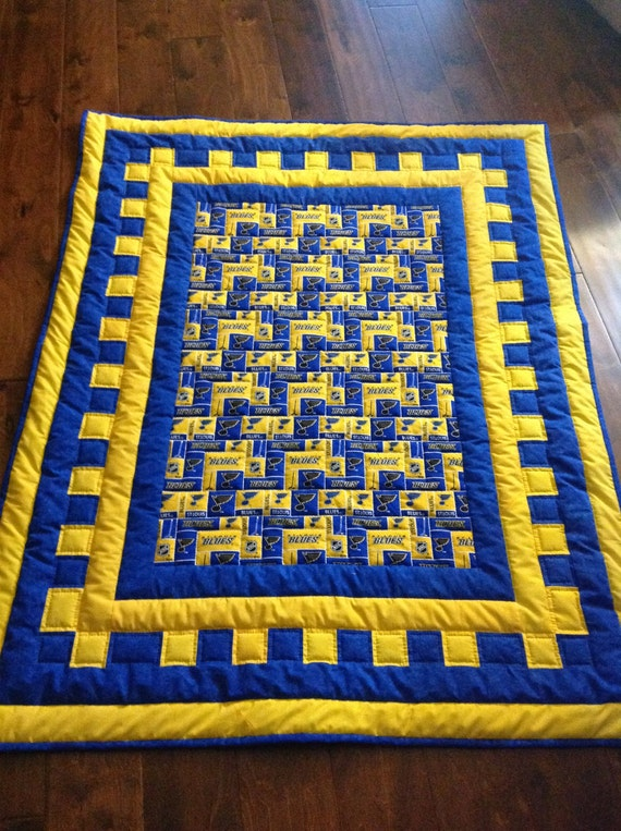 St Louis Blues Hockey Quilt Baby Quilt Baby shower t