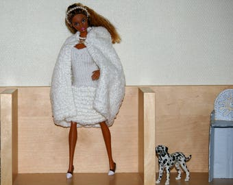 Cape wedding - knit for Barbie - fasion royalty-monster high