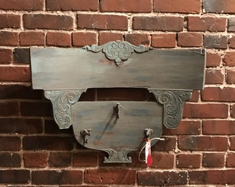 Reclaimed Vintage Wood Chair Back Wall Hanger