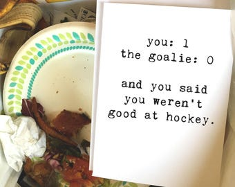 Pregnancy Card, Slipped One Past The Goalie, Funny Pregnancy Card, Baby Card, New Mom, New Dad, New Parents, Blank Inside, Chucklcards