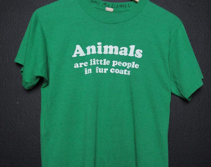 Animals Are Little People in Fur Coats Vintage Tshirt