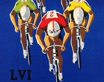 Bike Spain Bicycle  Cycle in 1957 Sport Vintage Poster Repro FREE SHIPPING in USA