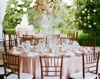 Blush Satin Tablecloth For Wedding And All Other Events! Overlays, Rounds,  Squares And