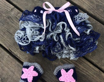 Dallas cowboys baby girl outfit, newborn with pink, cowgirl skirt, cowboy boots