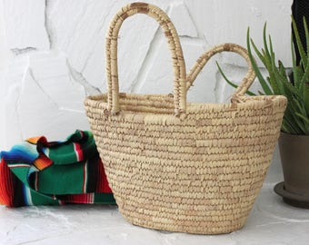 Vintage Woven Grass Storage Basket Magazine Holder