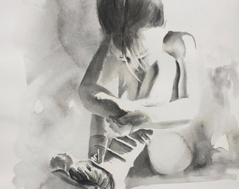 Young Ballerina QUALITY GICLEE PRINT on fine art paper