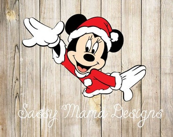 Minnie Mouse Santa SVG, instant download