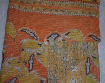 Indian Handmade Kantha Quilts Vintage Throw Bedcover Bedspread Gudri 2117 BY artisanofrajasthan