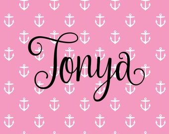 Personalized Nautical Anchor Themed Girl OR Boy Security Lovey/Blankets for All Ages