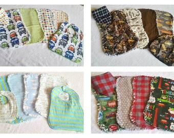 Baby Boy - Baby Burp Cloth and Bib Sets