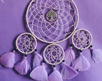 Lavender amethyst Tree of Life dreamcatcher