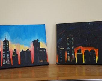 Sunrise/Sunset Skyline Painting