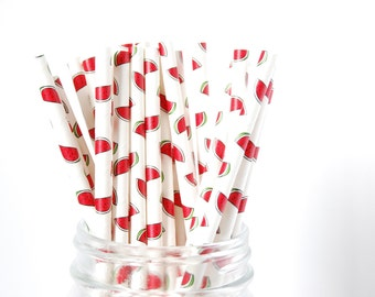 Watermelon Straws - Watermelons Straws - Summer Straws - Tropical Straws