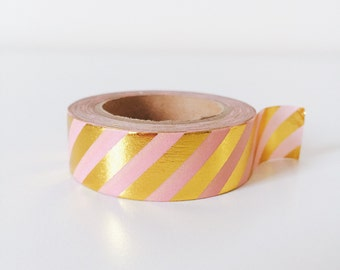 Pink and gold shinny washi tape