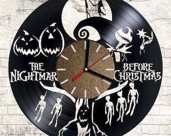 Vinyl clock Nightmare Before Christmas