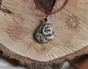 New! Dalmatian Jasper necklace