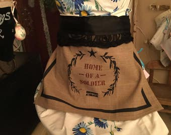 Home Of A Soldier Kitchen Towel Apron Skirt...Wear With or Without Your Favorite Apron