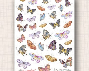 Decorative Planner Stickers | Butterflies | 35 Stickers Total | SD44