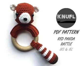 CROCHET PATTERN rattle red panda