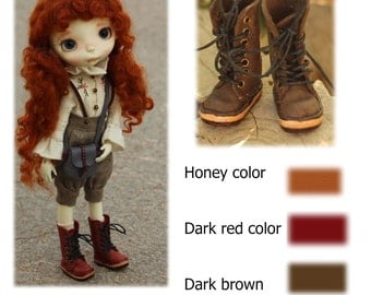 Real leather 100% handmade Boots (3 colors) forPpinkydolls
