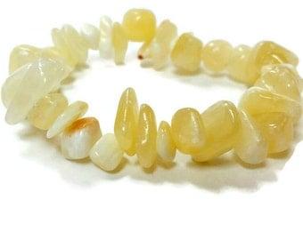 Aragonite Gemstone Chip Beads Natural size LARGE -gemstone beads, tumbled stones, crystal beads, wholesale beads, healing stones