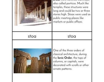 Ancient Greek Architecture - Montessori Three/Four Part Cards