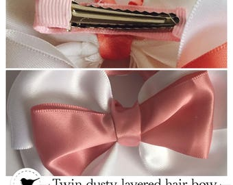 Dusty Layered hair bows