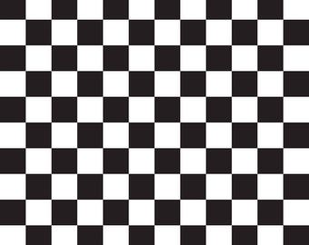 Sashing Stash Checkerboard Black and White - Riley Blake Designs - Checkers Squares - Quilting Cotton Fabric - by the yard fat quarter half