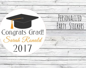 Choice 12/24/35 Graduation Class of 2017 College , High School Party Favor, Thank You Tags, Stickers, You Choose Size, Sweet Theme