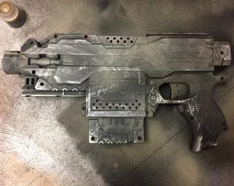 Post apoc style Semi automatic nerf blaster