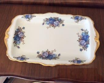Royal Albert Moonlight Rose Sandwich Tray Serving plate Cake Plate Teaset Teaware Vintage Replacement