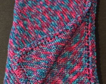 Knit baby blanket - Diagonal knit