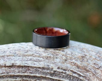 Full Matte Black Tungsten Outer with Interior Rosewood