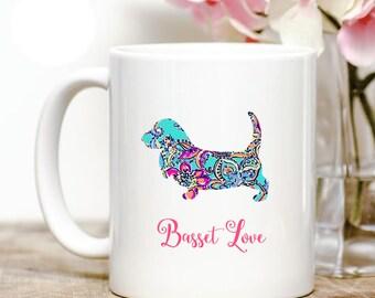 Basset Hound Love Coffee Mug