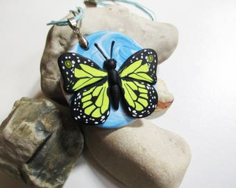 Butterfly  Pendant Butterfly Necklace Polymer clay  Jewelry  Handmade Wonderful gift for girl for woman for bestfriend.