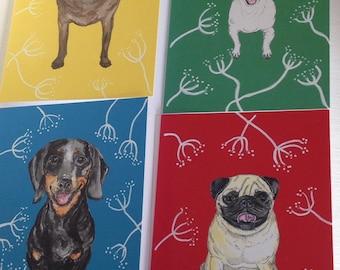 Dog cards.