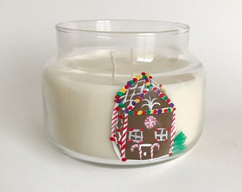 Hansel and Gretels House Candle/ 8oz Soy Wax Candle/ Christmas gifts/ Christmas scents/Zero Waste/ refillable candles