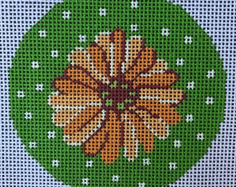 "Handpainted Needlepoint Lee BJ120 ""Daisy/Yellow"""