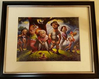 "Framed Caddy Shack Art! 8"" x 10"""