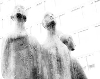 Print Oslo Black and White Photographic Print statues Oslo Modern Foto paper anniversary gift limited edition wall art modern art gift dad