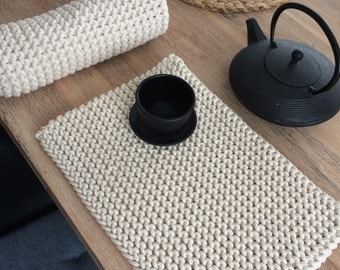 Handmade placemats, Knitted placemats, Table placemat
