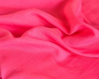 Pink Cotton Silk Blend Fabric