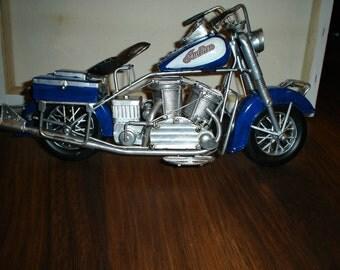 "CUSTOMIZED ""INDIAN"" HANDMADE  vintage metal motorcycle"