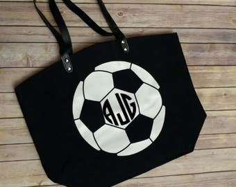 Personalized Soccer Tote Bag, Soccer Mom, Sports Bag