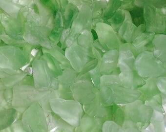 Lime green small sea glass/ beach glass