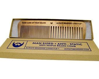 Anti-Static Maple Beard Comb