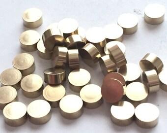 thick 2.5 mm(10 Gauge) 15 pcs 6 mm Round Geometric Solid Raw brass