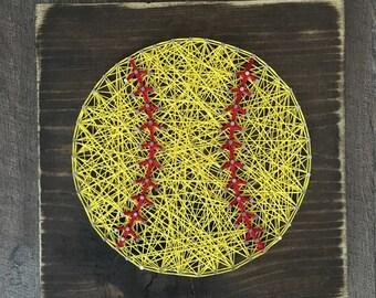 Softball String Art